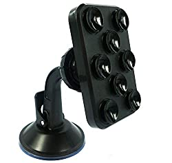 Car Mount Holder Universal 8 Suckers Car Windshield Stand Bracket for Smart Mobile Phone/GPS/Pad Placing Plate