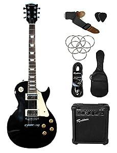 Rockburn LP2 Electric Guitar Pack - Black