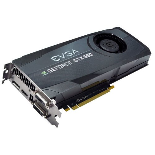 EVGA GeForce GTX680 SuperClocked 2048MB GDDR5, DVI, DVI-D, HDMI, DisplayPort, 4-way SLI Ready Graphics Card Graphics Cards 02G-P4-2684-KR