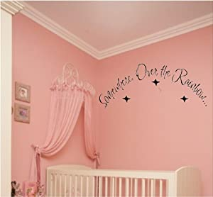 Wizard Of Oz Quote - Somewhere Over The Rainbow! Great for kids' room!