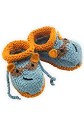 Joobles Fair Trade Organic Baby Booties - Racky the Raccoon (0-6 Months)