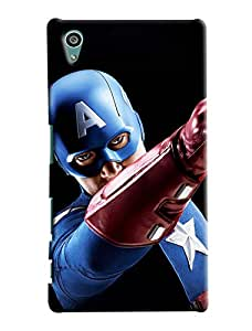 Clarks Captain America Inspired Hard Plastic Printed Back Cover/Case For Sony Xperia Z5