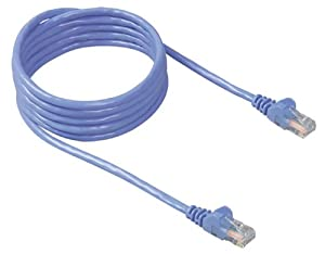 Belkin RJ45 CAT 5e Snagless Molded Patch Cable (3 Feet, Blue)