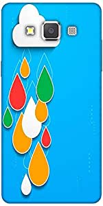 Snoogg Bstract Rainy Season Background With Cloud And Colorful Water Drops De...
