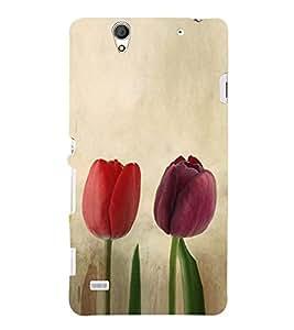 Colourful Tulips 3D Hard Polycarbonate Designer Back Case Cover for Sony Xperia C4 Dual :: Sony Xperia C4 Dual E5333 E5343 E5363