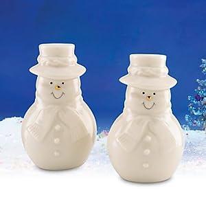 Lenox Snowman Salt And Pepper Shakers Kitchen