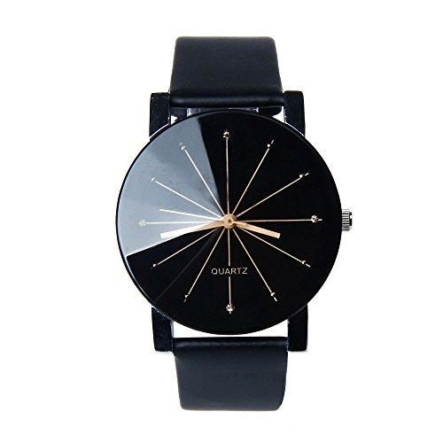 Franterd® Herren-Armbanduhr Quarzuhr Armbanduhr Elegant Uhr Modisch Zeitloses Design Klassisch Leder Schwarz