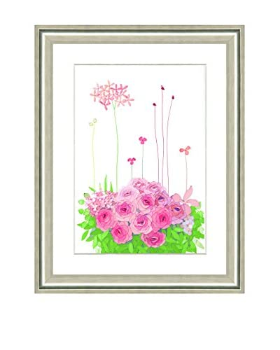 Art Source Watercolor Pink Pastel Flower Print I, Multi, 24 x 20