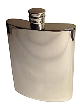 Amazon.com | Hip Flask - Genuine Pewter - Made in England - 6oz ...
