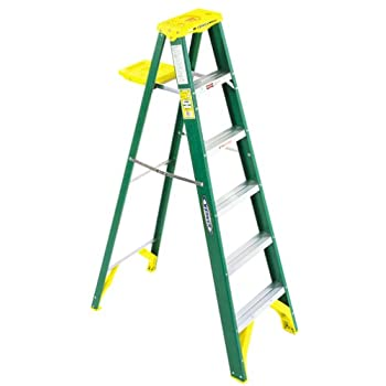 Werner 5904 225-Pound Duty Rating Type II Fiberglass Stepladder, 4-Foot