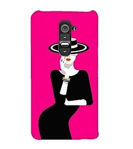 Pink Fantacy Girl 3D Hard Polycarbonate Designer Back Case Cover for LG G2 :: LG G2 D800 D980