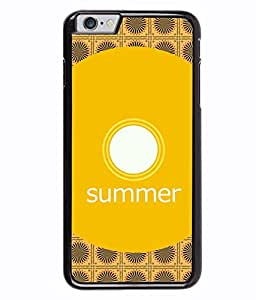 PRINTVISA Summer circle Premium Metallic Insert Back Case Cover for Apple Iphone 6 - D5663
