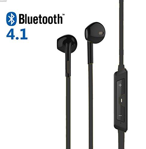 Auricolari BLACK Sport Fashion Bluetooth 4.1 Cuffie Chip CSR Multipoint Audio Stereo e microfono - Confezione con cavo Microusb, Manuale - Cuffie senza fili per Iphone, Samsung, Xiaomi, Huawei, Sony e tutte le periferiche bluetooth