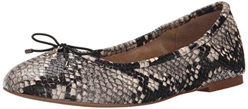 Sam Edelman Felicia - Ballerine Donna, colore grigio (putty shiny burmese python pri), taglia 37 EU  (4.5 UK)
