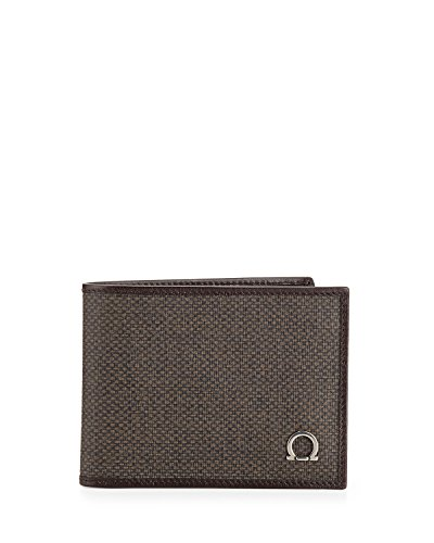 Salvatore Ferragamo Mens New Form Bifold Leather Wallet (One size, Fondente Brown)