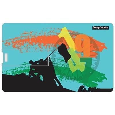 Design worlds 16GB Credit card Shape Pendrive Independence celebration Multicolor