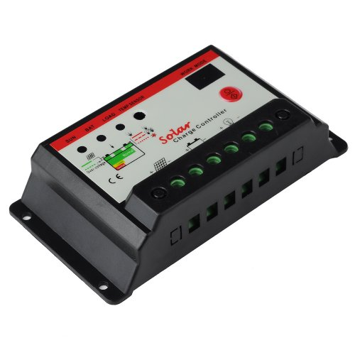 Victsing 20A Black Solar Panel Battery Charge Controller 12V 24V Auto Switch