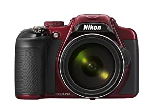 Nikon COOLPIX P600 16.1 MP Wi-Fi CMOS Digital Camera with 60x Zoom NIKKOR Lens and Full HD 1080p Video (Red)