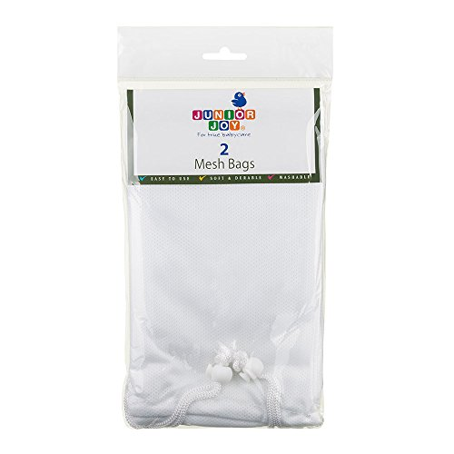 Junior Joy Mesh Bags, White, 2 Count