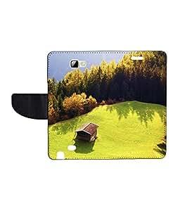 KolorEdge Printed Flip Cover For Samsung Note 2 N7100 - Multicolor