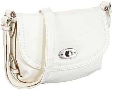 Tom Tailor Acc LINN Handtasche 13101 12, Damen Umhängetaschen, Weiß (weiss 12), 24x17x8 cm (B x H x T)