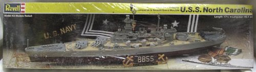 Battleship USS NORTH CAROLINA plastic model ship kit