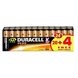 duracell batterie plus mignon aa 20er 4 gratis sonderpack. Black Bedroom Furniture Sets. Home Design Ideas