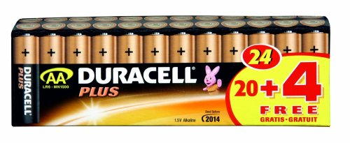 Duracell Plus MN1500 - Batterie 24 x AA Alcaline