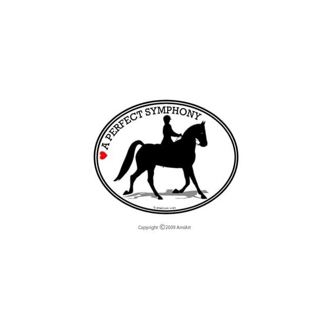 HORSE Bumper Sticker   A PERFECT SYMPHONY   Dressage horse decal   Can be used for Cars, Trucks, Notebooks, walls and more