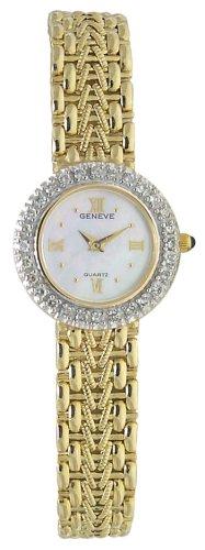 Geneve 14K Solid Gold Diamond Women's Watch - MOP - W20900A