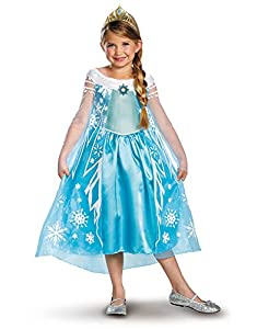 Disguise Girls Disney Frozen Elsa Deluxe Costume by Amazon.com, LLC *** KEEP PORules ACTIVE ***