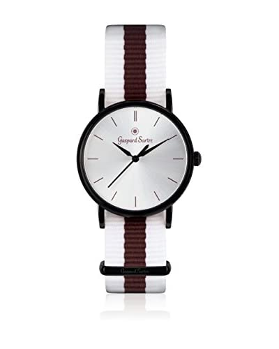 Gaspard Sartre Reloj de cuarzo La Variée Blanco / Marrón 36 mm