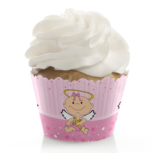 Angel Baby Girl - Baptism Cupcake Wrappers front-109266