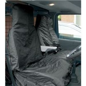 Black Water Restistant Nylon 4 x 4's, Vans, Small Trucks & Pickups Protection Seat Covers