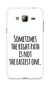 AMEZ the right path is not easy Back Cover For Samsung Galaxy J3 (2016 EDITION)