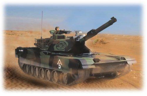 M1A1 エイブラムス 3色迷彩仕様 (1/16スケール RC戦車)