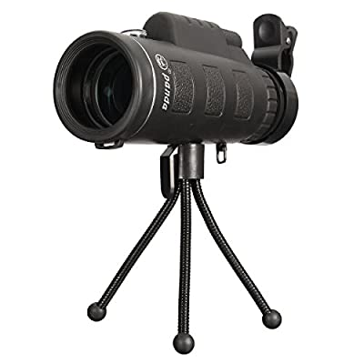 OUTERDO 40x60 Dual Focus Monocular Telescope Portable HD Dual Focus Optical Prism Telescope With Tripod For Hands Free Viewing Scope For Wildlife Hunting Camping Surveillance Sporting Events Traveling from OUTERDO