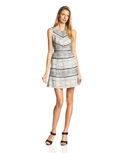 Jessica Simpson Women's Fit-and-Flare Lace Paneled Dress