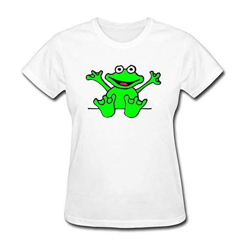 Ptcy Girls' T Shirt Heart Frog Us Size S White front-560627