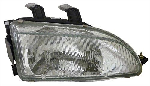 For Honda Civic 92-95 Right Side Rh Headlight New Lens & Housing (Honda Civic 92 95 Headlights compare prices)