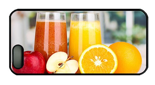 Hipster Iphone 5 Case Custom Covers Nutritious Juice Apples Oranges Pc Black For Apple Iphone 5/5S front-1067732