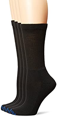 PEDS Women's Diabetic Crew Socks with…