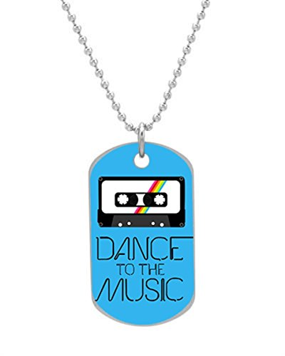 Dance Music Retro Casette Fashion Image Design Personalized Dog Tag Pet Tag Dogtag Cat Tag Necklace Pendant