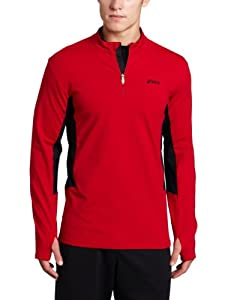 Asics Men's Thermopolis XP 1/2 Zip Pullover, Brick/Black, Medium