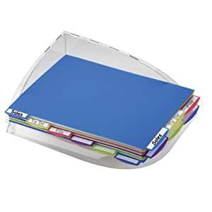 Pendaflex PileSmart Organizer Tray, Letter, Clear/Assorted