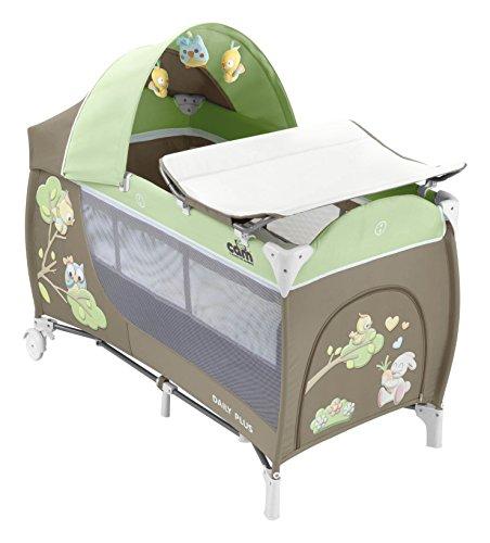 Cam Il Mondo Del Bambino L113 Daily Plus Lettino da Campeggio, Gufo, Fango/Verde