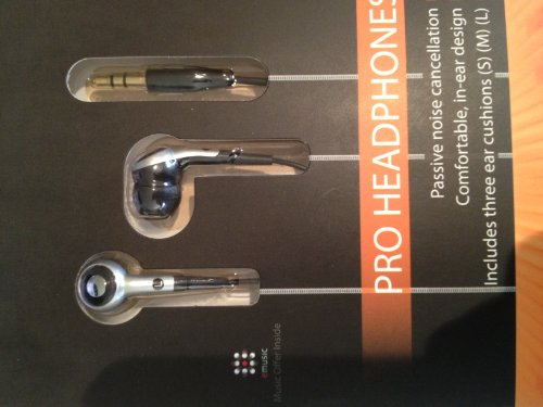 The Sharper Image Shp17 Noise Isolating Headset 3.5Mm - Retail Packaging - Silver