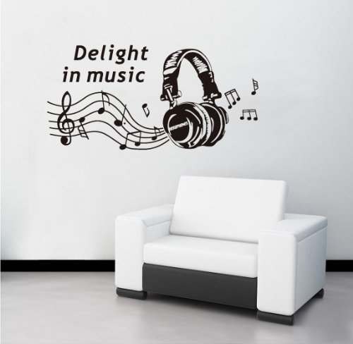 Createforlife Wallpaper Home Decoration Wall Art Fashion Sticker Headphone Music