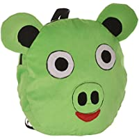 Tickles Angry Bird Pig Shoulder Bag (Green) For Kids 31cm