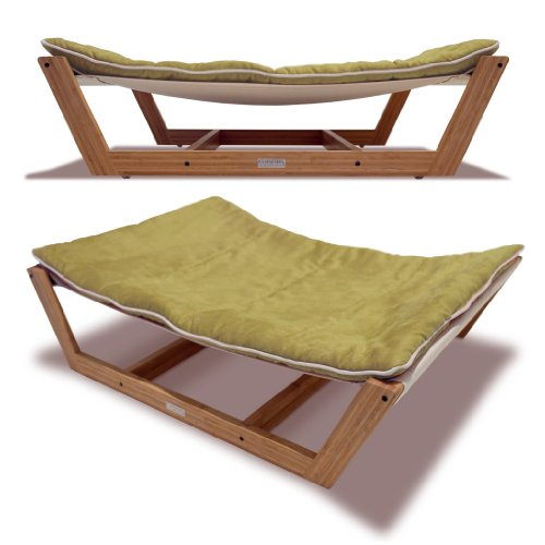 Bed Hammock Pet Bed, 35.5 By 26.25 By 9-Inch, Kiwi Green